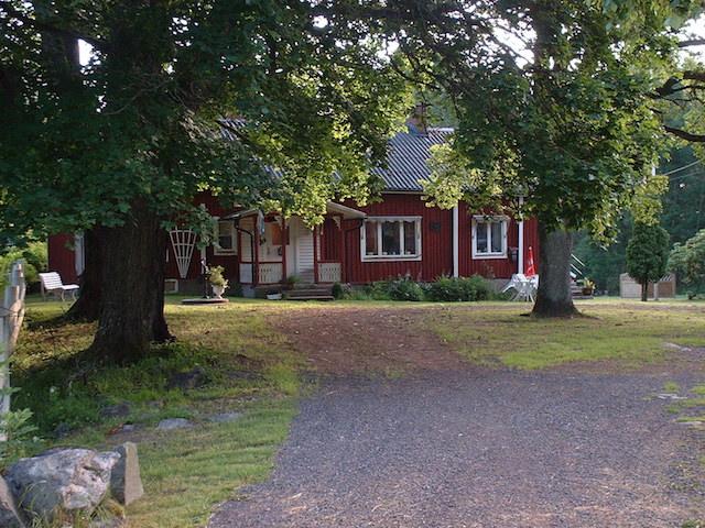 Ons vakantiehuis in Osby. We waren meteen verliefd op Zweden.