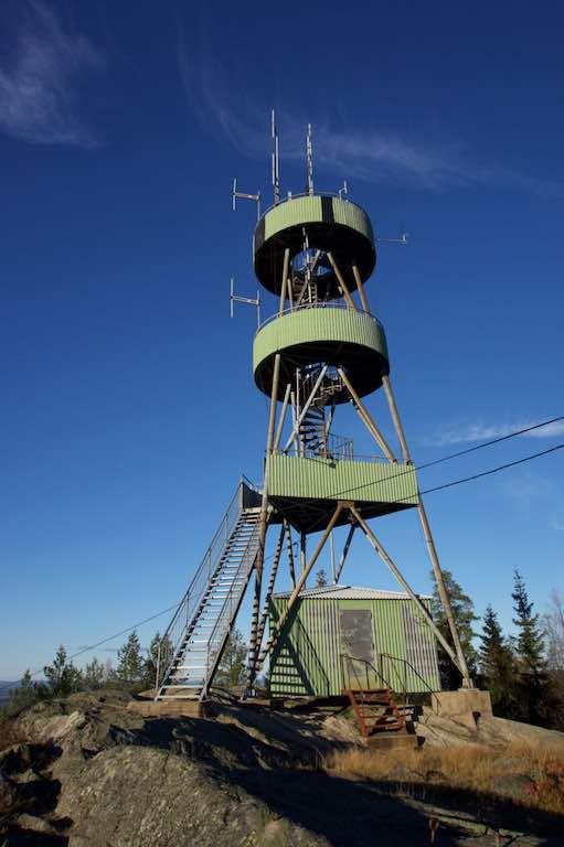 De uitzichttoren bij Hagfors.