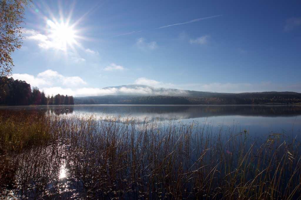 Het meer bij Vitsand