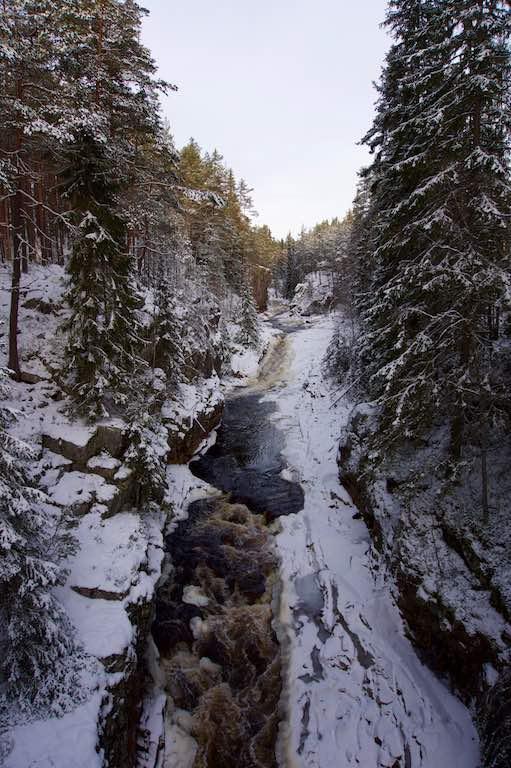 Het riviertje bij Brattfallet