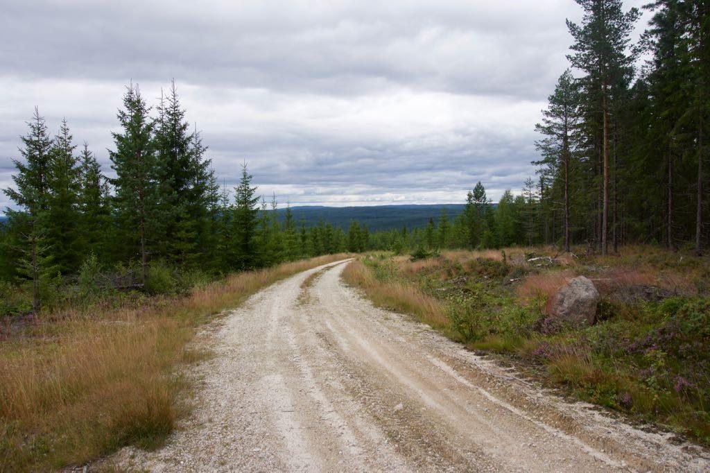 Een van de onverharde wegen met een mooi uitzicht.