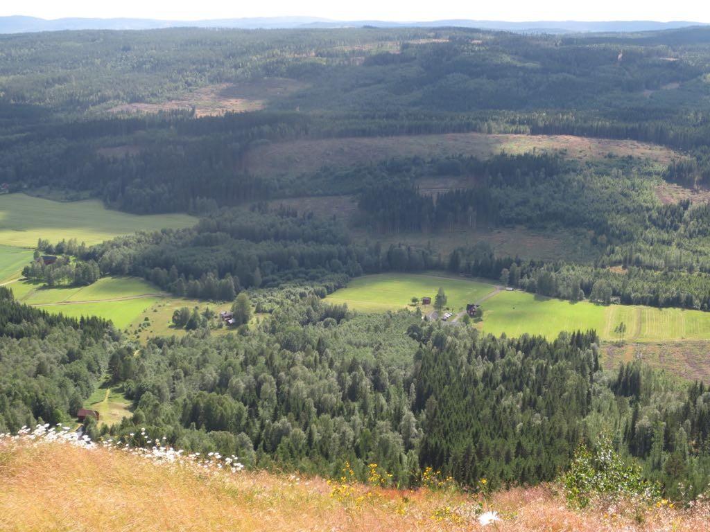 Uitzicht van Tossebergsklätten