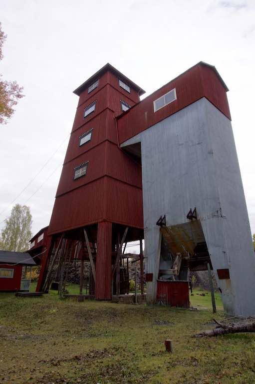 Het liftgebouw.