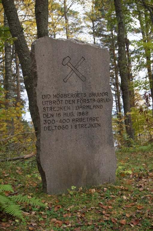 Herdenkingssteen voor de mijnwerkersstaking