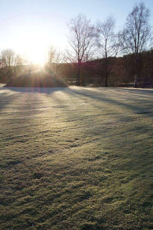 Veel hoger komt de zon niet in de winter.