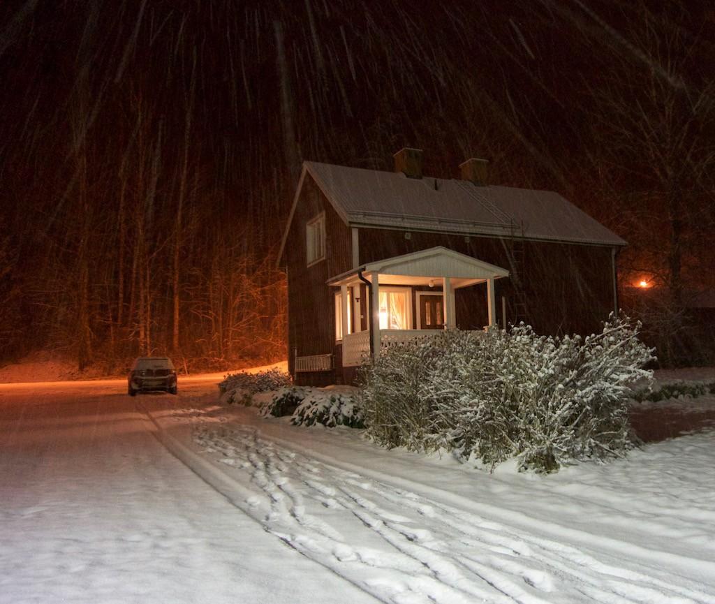 Gisteravond sneeuwde het