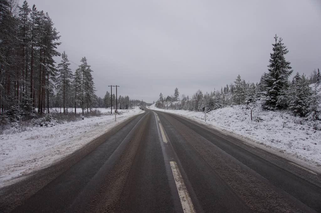De wegen worden ook in de winter goed onderhouden.