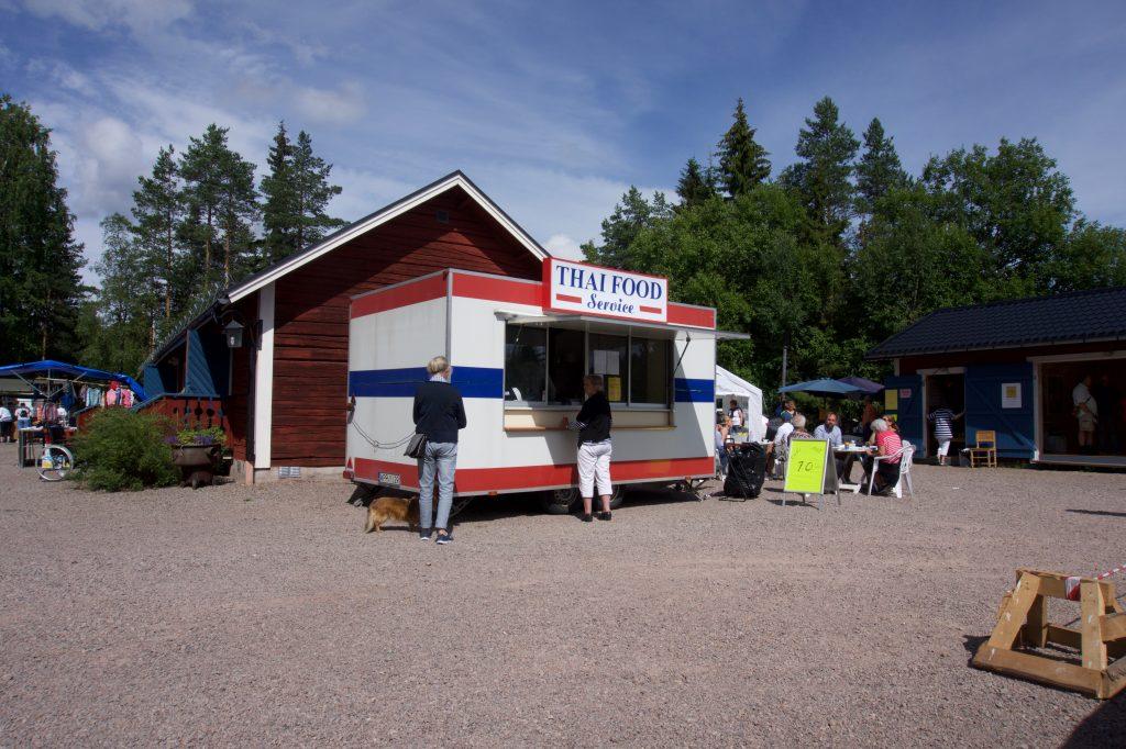 Thai food mag niet ontbreken. Je komt het in Zweden op de meest vreemde plekken tegen.